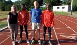 Carmen Bijsterveld, Ibrahim Abdi Ali, Herman IJzerman en Farhaan Abdi Ali. Foto: Meike Wesselink