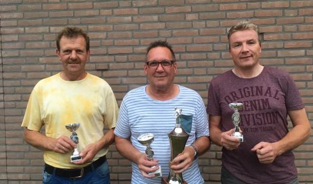 De top drie van het biljartkampioenschap. Foto: PR