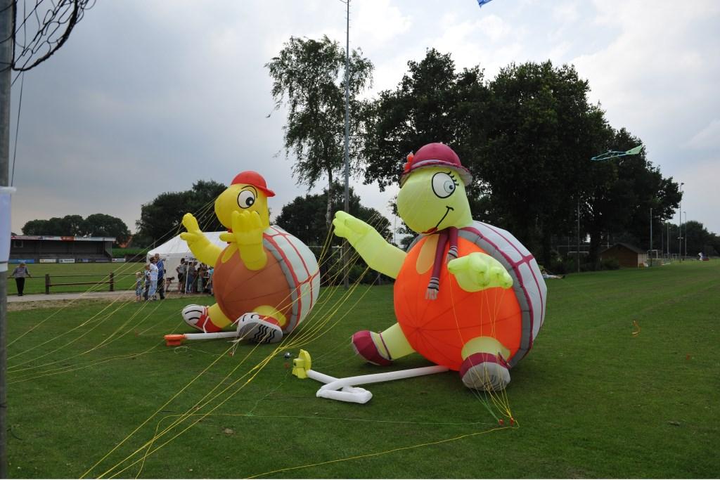 Vliegers in verschillende grootte en kleurencombinaties zijn te bewonderen. Foto: Achterhoekfoto.nl/John Mokkink  © Achterhoek Nieuws b.v.