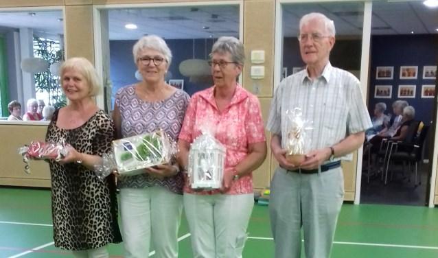 Van links af Willemien Balduk, Carla van den Broek, Ans Harmsen en Guus Stein. Foto: Tineke Labots