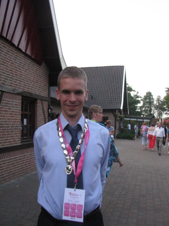 De burgemeester van het Olympisch dorp: Daniël van den Berg. Foto: Ferry Broshuis  © Achterhoek Nieuws b.v.