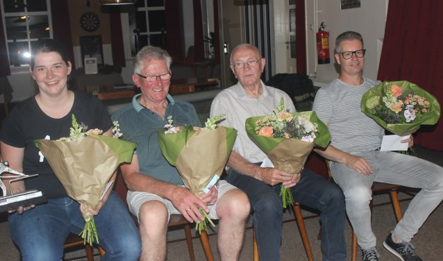 Vlnr: Nienke Pothoven, Gerrit Hakken, Bennie Waalderbos en Edwin Rijkman. Foto: Willy Rouwhorst