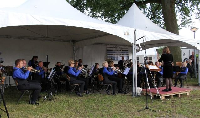 Muziekvereniging Euterpe tijdens het Bronckhorst Muziekfestival in Zelhem. Foto: Liesbeth Spaansen