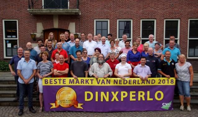 De ondernemers van de Beste Markt van Nederland. Foto: Frank Vinkenvleugel