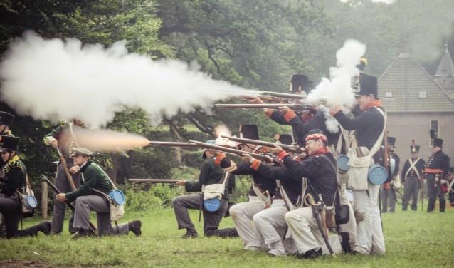 Beleef in Vorden een Napoleontische schermutseling. Foto: Keshia Fotografie