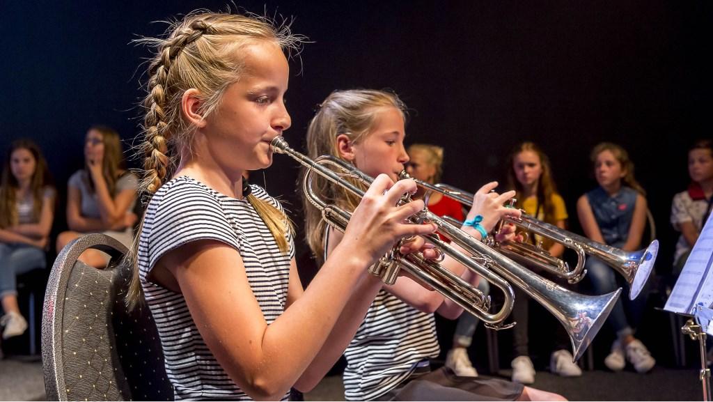 Het leerlingenconcert van St. Radboud. Foto: Henk van Raaij  © Achterhoek Nieuws b.v.