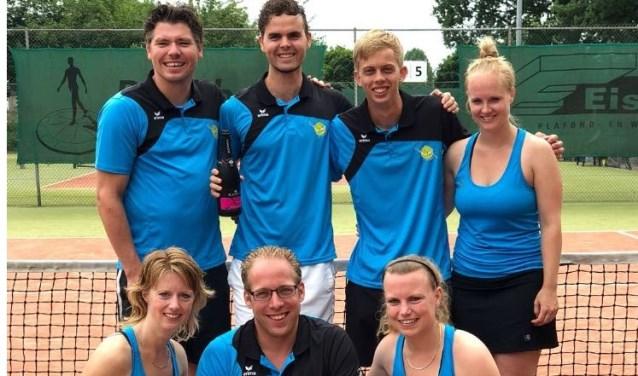 Van linksboven naar rechtsonder: Bart Willems, Martijn Arfman, Tom Kleinluchtenbeld, Kim van Esterik, Lisette Dijkman, Maik Derksen en Anneleen Dijkman. Foto: PR