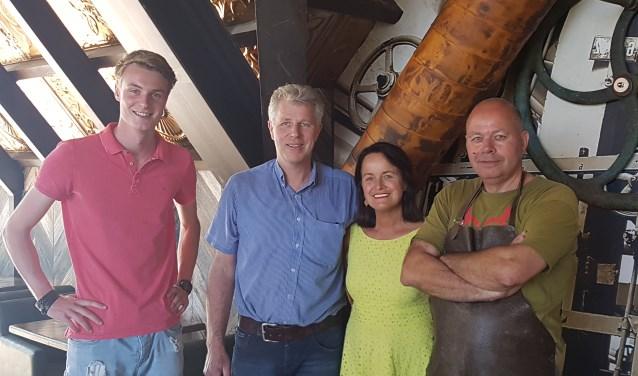 Vlnr. Tim Wieggers, Ben Weenink, Irma Weenink en Boudewijn Albering in het nieuwe Brouwhoes. Foto: Kyra Broshuis