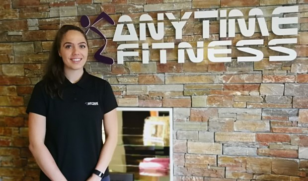 Sterre van Doorn bij Anytime Fitness in Neede. Foto: Rob Weeber