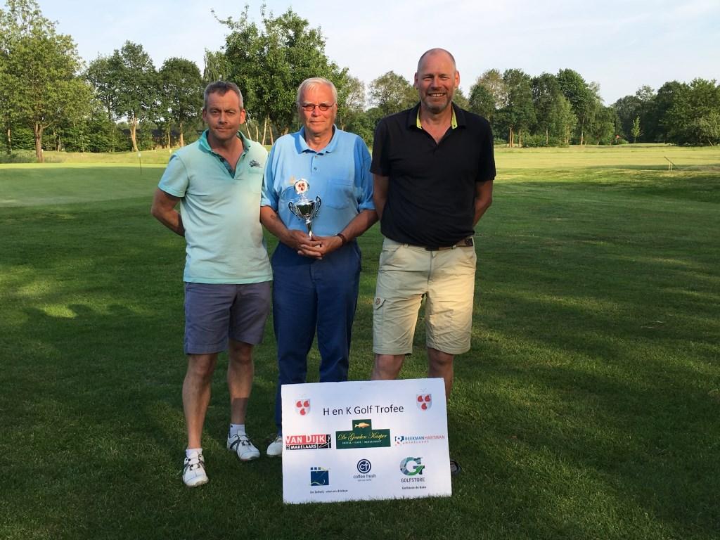 Eerste drie winnaars van de wedstrijd 'HenK' Golf Trofee. Foto: PR