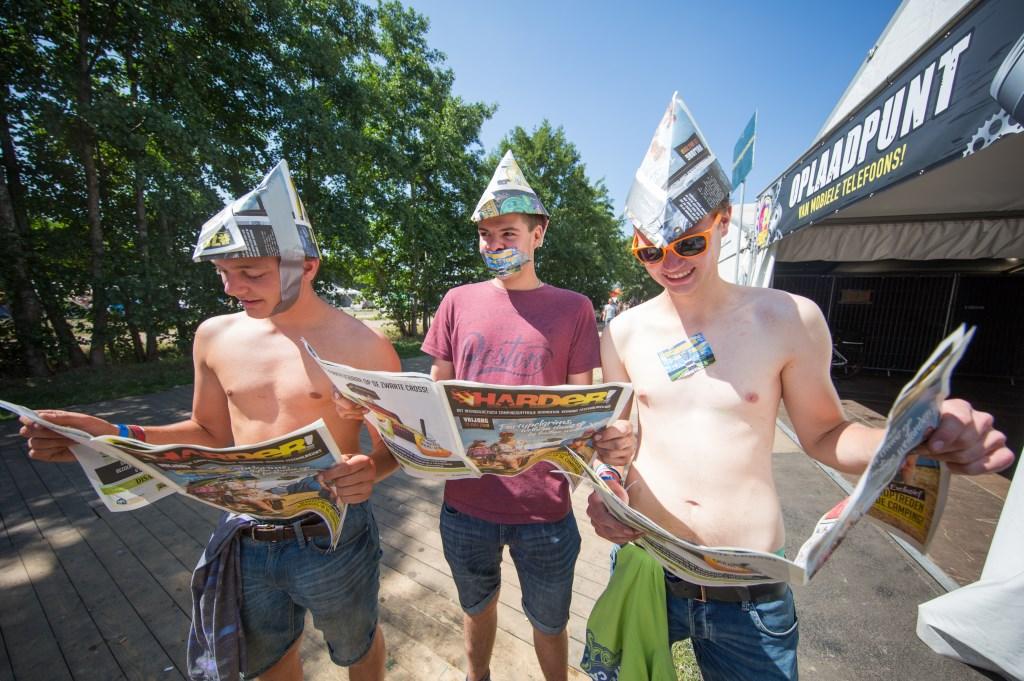 Eén, twee, drie, vier, hoedje van papier. Foto: Kamiel Scholten  © Achterhoek Nieuws b.v.
