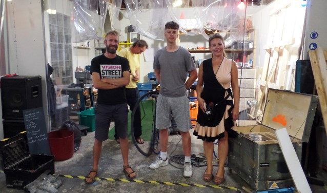 V.l.n.r.:Jaron, Russel, Pjotr en Dianne. Foto: Meike Wesselink