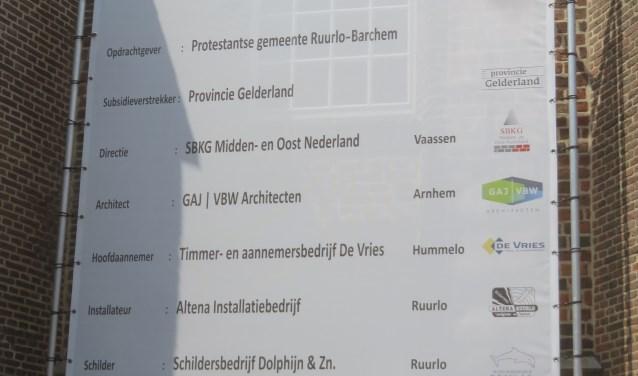 Diverse lokale en regionale bedrijven waren betrokken bij de interneverbouw van de Dorpskerk. Foto: PR.