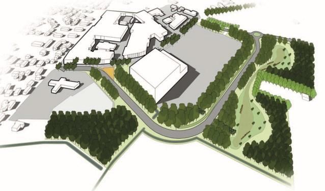 Artist impression van het nieuwe vrieshuis van Aviko in Steenderen. Afbeelding: Aviko