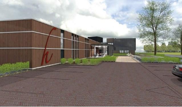 Een artist impression van het nieuwe gebouw. Foto: Het Fundament Architectuur