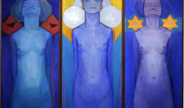 Piet Mondriaan, Evolutie, 1911, Collectie Gemeentemuseum Den Haag. Foto: PR