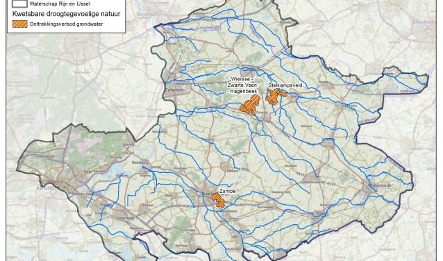 In en om het Stelkampsveld geldt een verbod op het onttrekken van grondwater. Foto: WRIJ