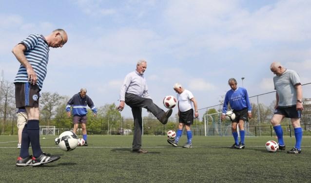 De walking-footballspelers tijdens een training. Foto: PR