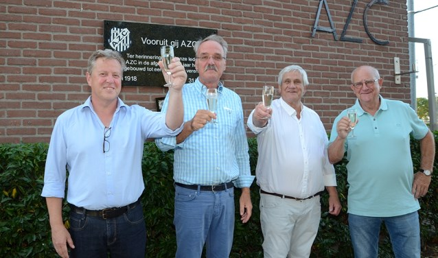 De vierereleden van AZC. met v.l.n.r. Eric Weustink, Dick Smeenk, Reinier van der Kwast en Wim Zegers. Foto: Freddy Burgers