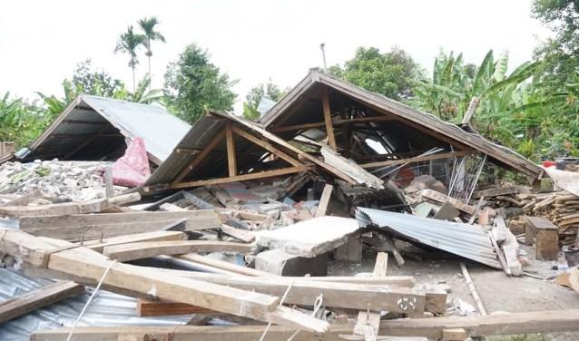 De aardbeving heeft grote verwoestingen aangericht. Foto: eigen foto