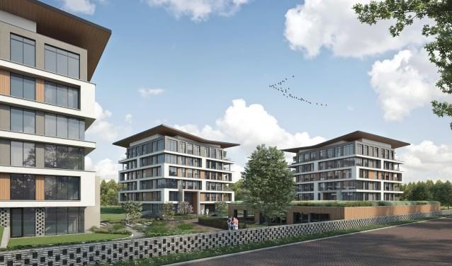 De villamenten en penthouses van Veste in Zutphen. Beeld: Archi Vision