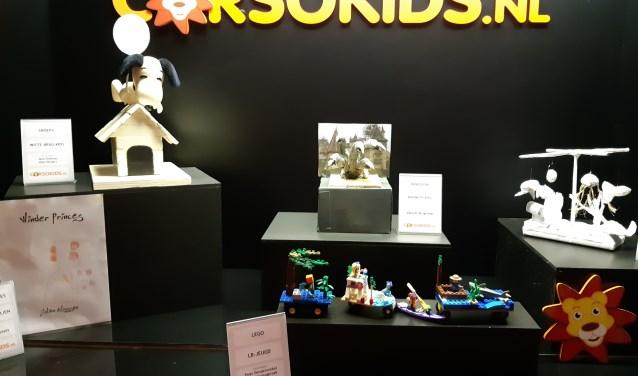 Een aantal maquettes van de Corsokids. Foto: PR