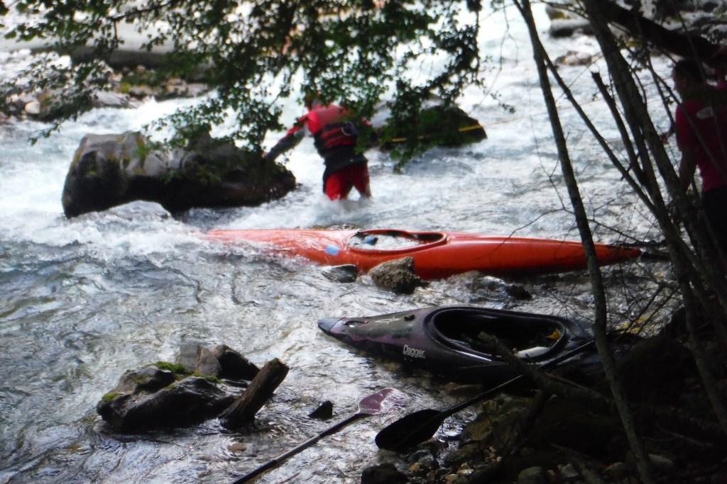 De kanoërs van Het Anker hebben zich flink uitgeleefd. Foto: Foto: Monique Kuijer