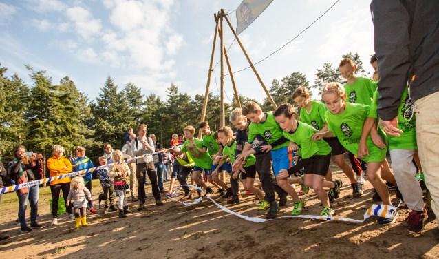 De start van de Kids Run vorig jaar. Foto: Arjan Gotink
