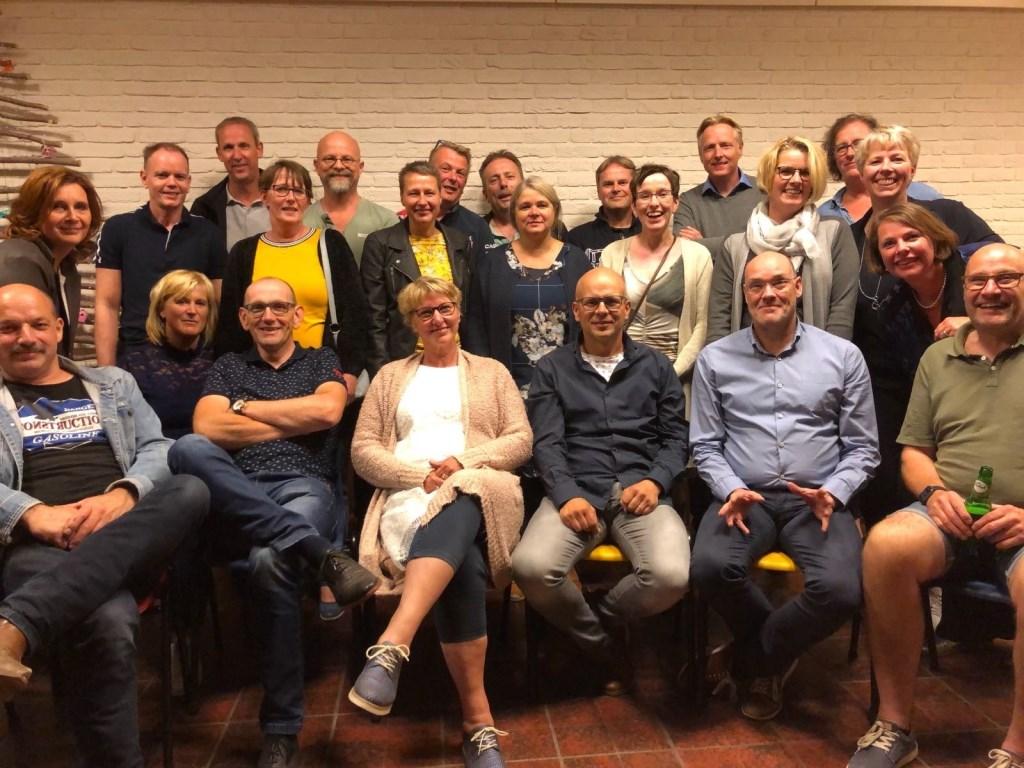 De avondgroep reünisten. Foto: PR  © Achterhoek Nieuws b.v.
