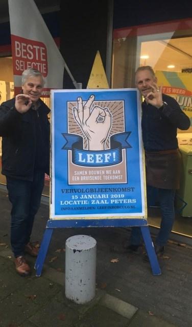 Leef! in Borculo werkgroepleden John Schuurman (l) en Arjan Hoogstra. Foto: PR