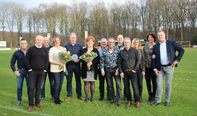 Jubilarissen: veertig en vijftig jaar lid. Foto: Frank Buiting