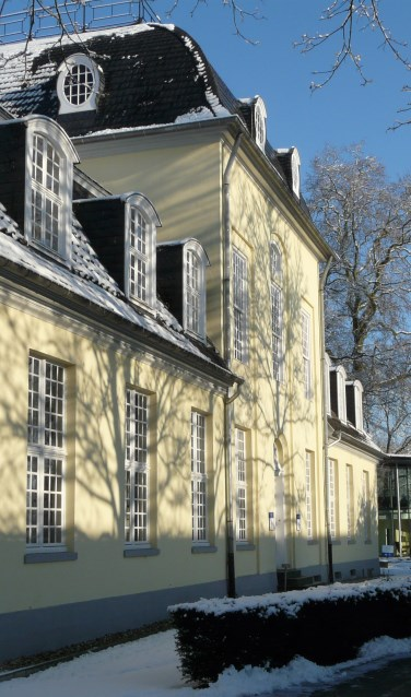 Het Euregiosecretariaat in Kleve in winterse sferen. Foto PR