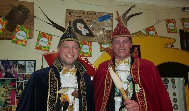 Prins Eef (rechts) en adjudant Freek Helmers. Foto: Henri Walterbos