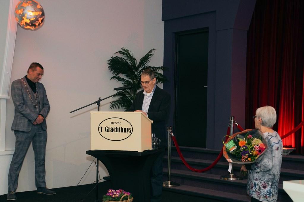 Jan Veldhuis tijdens zijn dankwoord. Foto: Frank Vinkenvleugel  © Achterhoek Nieuws b.v.