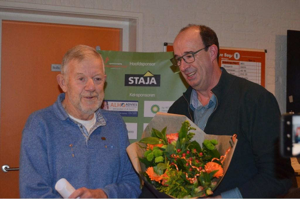 Voorzitter Marcel Melgers en Gerard Geurts.Foto: Femke Jansen  © Achterhoek Nieuws b.v.