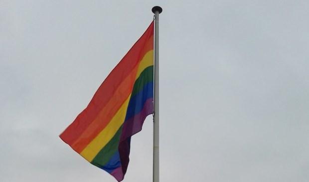 De regenboogvlag. Foto: Rob Weeber