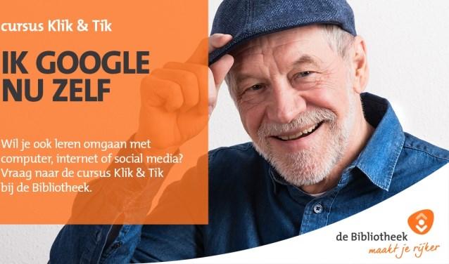 Zelf aan de slag op internet dankzij 'Klik & Tik'. Foto: PR