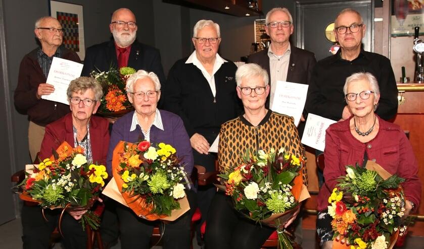 V.l.n.r.: Bennie Taankink (Hengelo), Henk Bloemendaal (Eefde) Theo Nijenhuis (Vorden), Han Radstake (Vorden) en Theo Nijenhuis (Hengelo). Foto: Theo Frencken
