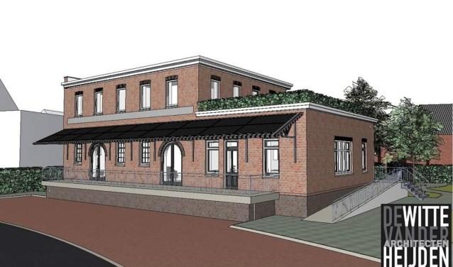 Na de verbouwing zal dit het beeld zijn van de Boerenbond in Zieuwent.