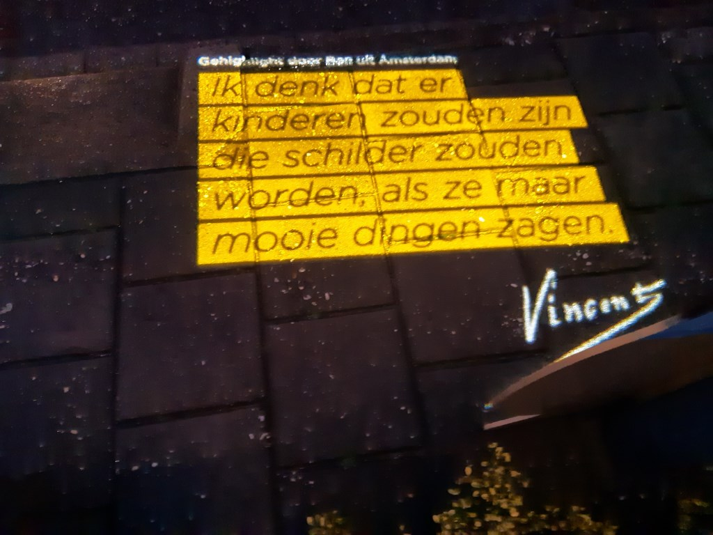 De tekst van Van Gogh die te lezen is in Groenlo. Foto: Ferry Broshuis  © Achterhoek Nieuws b.v.