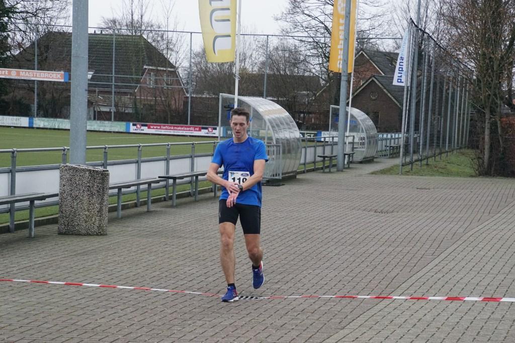 De winnaar op de 10 km, Raymond Schuurman. Foto: Frank Vinkenvleugel  © Achterhoek Nieuws b.v.