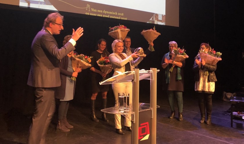 De uitreiking van de Doe Mee-award. Foto: PR