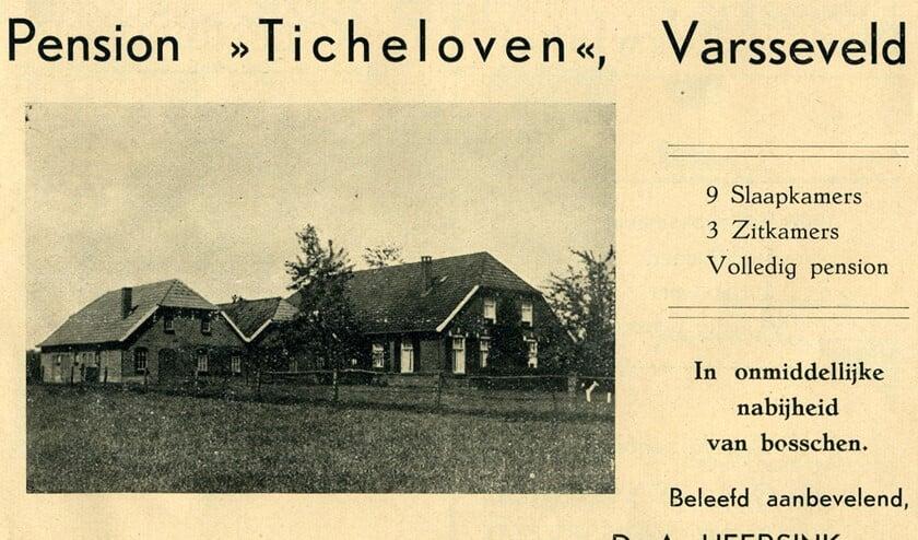 Pension Ticheloven in de Binnenheurne. Foto: Collectie Gerard Bruil