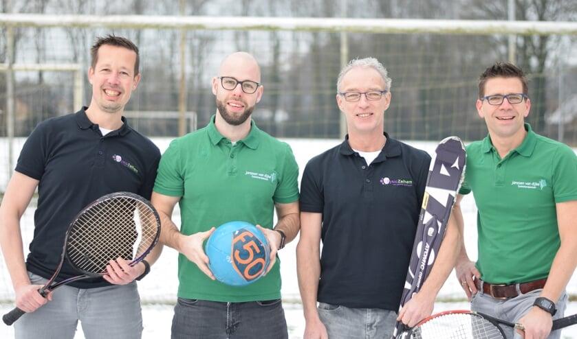 De vier initiatiefnemers, v.l.n.r.: Ferdy Groot Nibbelink, Lennart Hendriks, Wilco Idzerda en Remco van Rheen. Foto: PR
