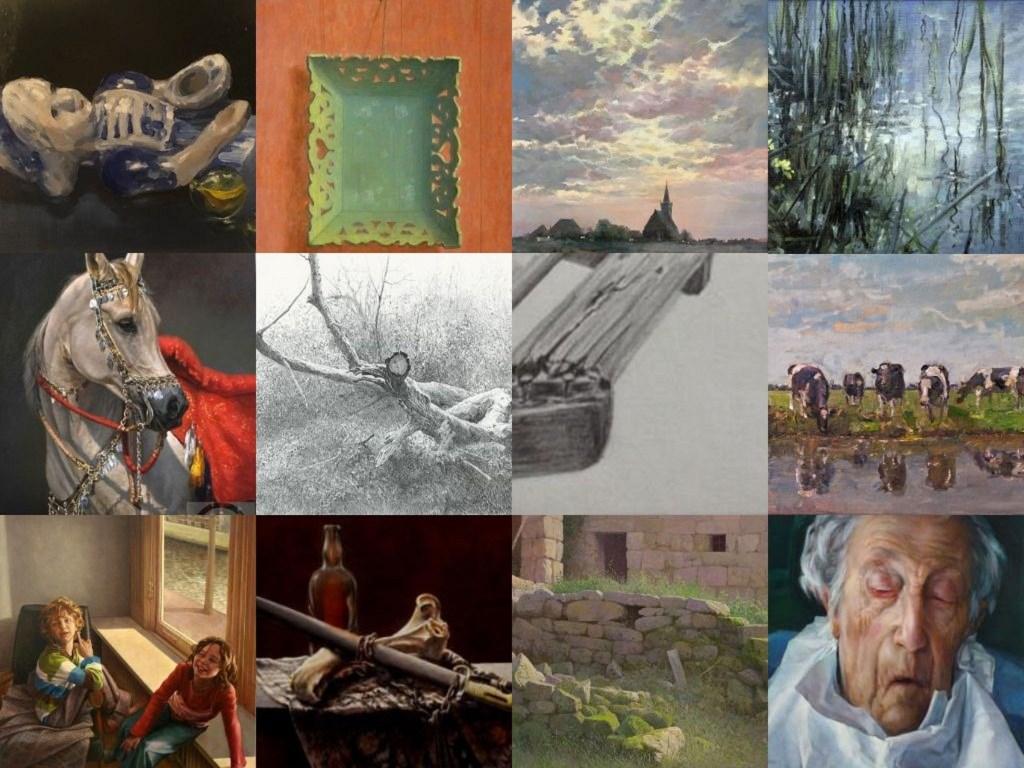 Werk van docenten, tevens kunstenaars, van Atelier De Witte Hemel Drempt. Foto: PR  © Achterhoek Nieuws b.v.