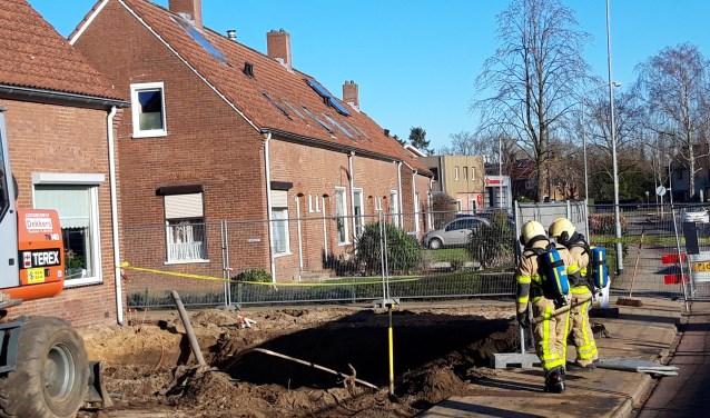 De brandweer is ter plekke. Foto: Frank Vinkenvleugel