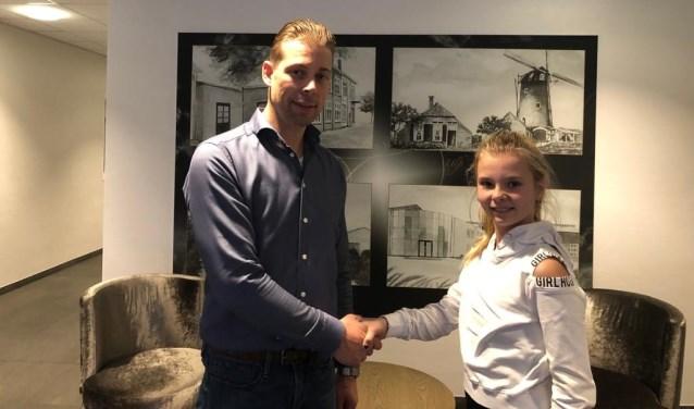 Joëlle Giezen en Daniel Lentink, die haar actie van harte ondersteunt. Foto: PR