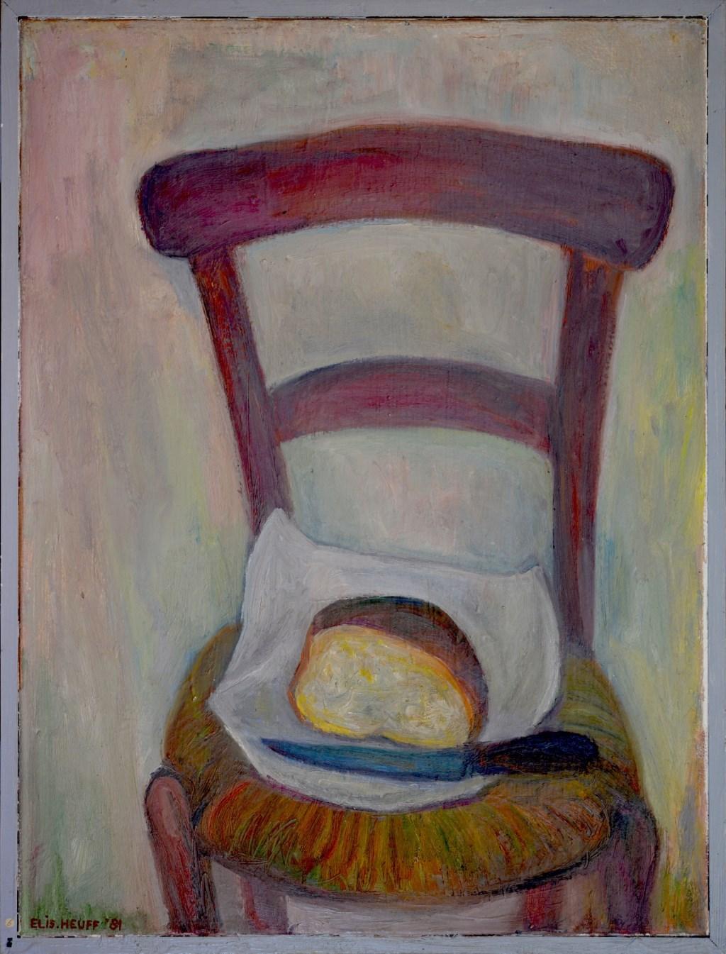 Elisabeth Heuff - Stilleven met stoel en brood. Foto: PR  © Achterhoek Nieuws b.v.