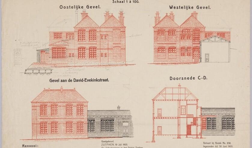 Bouwtekening Zutphen David Evekink 1905. Foto: PR
