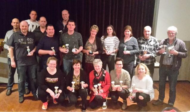 De winnaars van het boogschiettoernooi in Veldhoek. Foto: PR